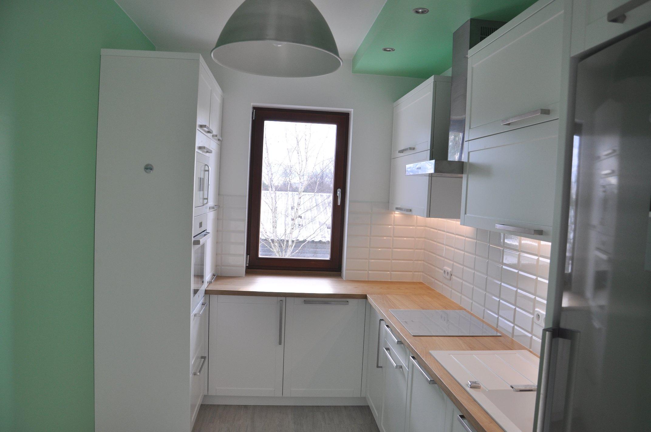 Giorgiomariani Meble Na Wymiar Biało Miętowa Kuchnia