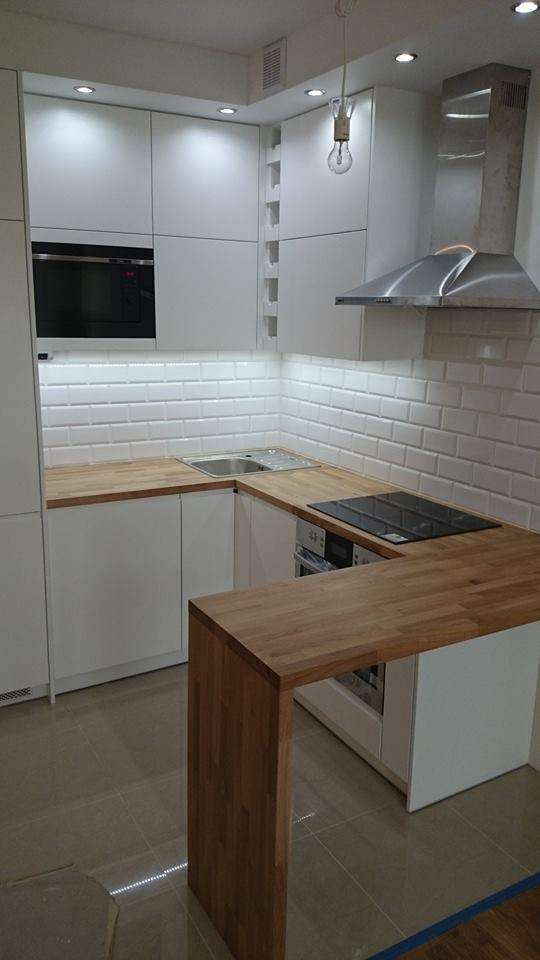 Giorgio&Mariani  meble na wymiar  Biała kuchnia -> Kuchnia W Limonce